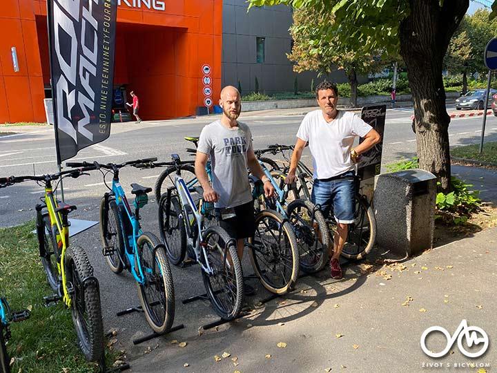 Filip Nuota a Roland Zórád - požičovňa bicyklov Levice, Tekovský región
