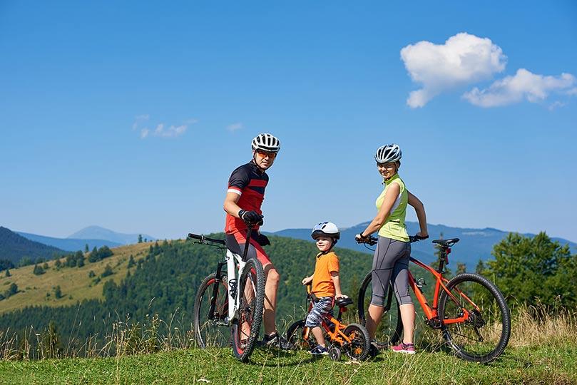 Rodinné cyklovýlety na elektrobicykloch s deťmi- Levice